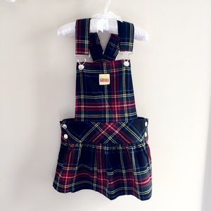 Harajuku Mini Plaid Overall Jumper Dress 5T NWOT
